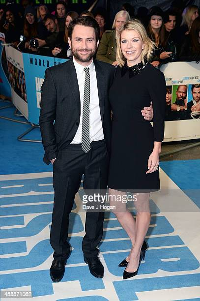 Charlie Day and Mary Elizabeth Ellis attend the UK Premiere of Horrible Bosses 2 at Odeon West End on November 12 2014 in London England