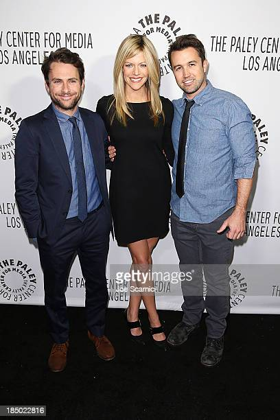 Charlie Day, Kaitlin Olson and Rob McElhenney arrive arrives at The Paley Center For Media's 2013 benefit gala honoring FX networks at Fox Studio Lot...