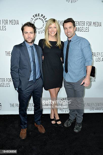 Charlie Day Kaitlin Olson and Rob McElhenney arrive at The Paley Center for Media's 2013 benefit gala honoring FX Networks with the Paley Prize for...