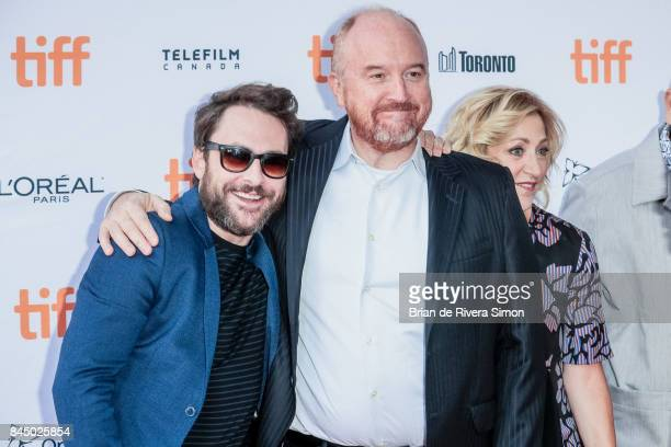 Charlie Day Louis CK and Edie Falco attend the 'I Love You Daddy' premiere during the 2017 Toronto International Film Festival at Ryerson Theatre on...