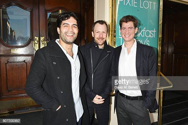 Charlie De Melo director Nikolai Foster and Matt Barber pose at a photocall for a new stage adaptation of Truman Capote's 'Breakfast at Tiffany's' at...