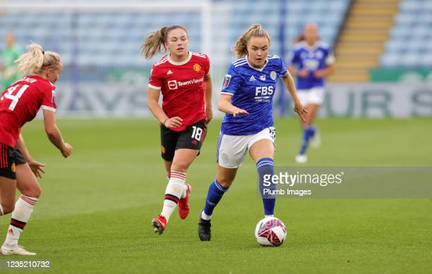 Charlie Devlin of Leicester City Women during the Barclays FA Women's Super League match between Leicester City Women and Manchester United Women at...