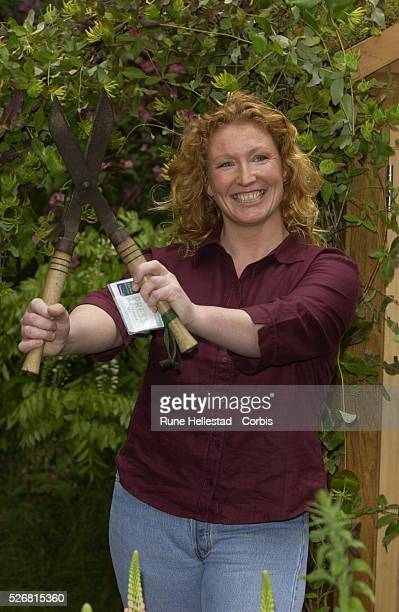 Charlie Dimmock attends the Chelsea Flower Show