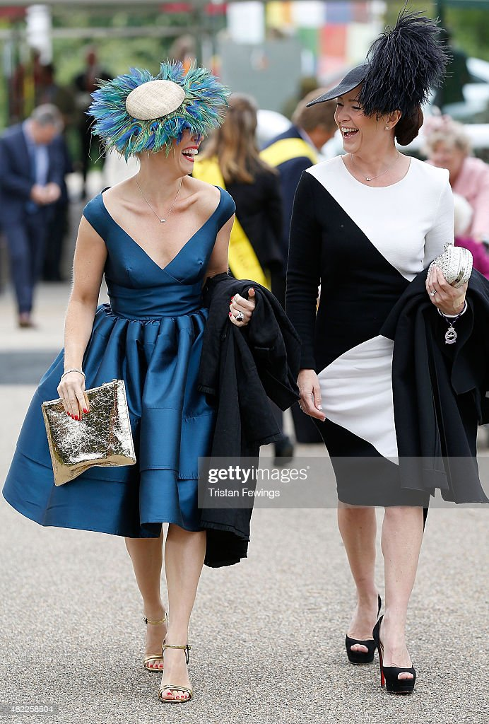 Charlie Elmy-Britton and Leigh Johnson day two of the Qatar Goodwood Festival at Goodwood Racecourse on July 29, 2015 in Chichester, England.