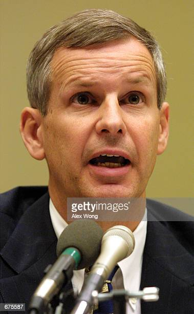 Charlie Ergen CEO of EchoStar testifies before a House Subcommittee on Telecommunications and the Internet during a hearing on The Status of...