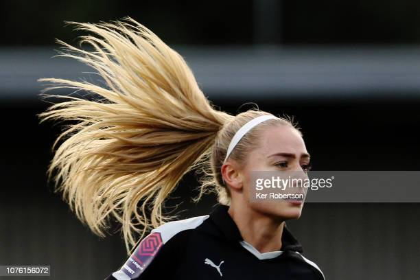 Charlie Estcourt of Reading Women in action during the FA Women's Super League match between Chelsea and Reading at The Cherry Red Records Stadium on...