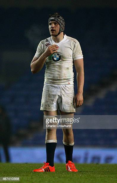 Charlie Ewels of England during the Under 20 Six Nations Championship match between England U20 and France U20 at The Amex Stadium on March 20 2015...