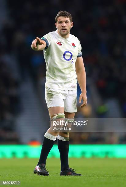 Charlie Ewels of England looks on during the Old Mutual Wealth Series between England and Samoa at Twickenham Stadium on November 25 2017 in London...
