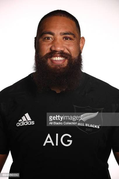 Charlie Faumuina during the New Zealand All Blacks Headshots Session on June 11 2017 in Auckland New Zealand