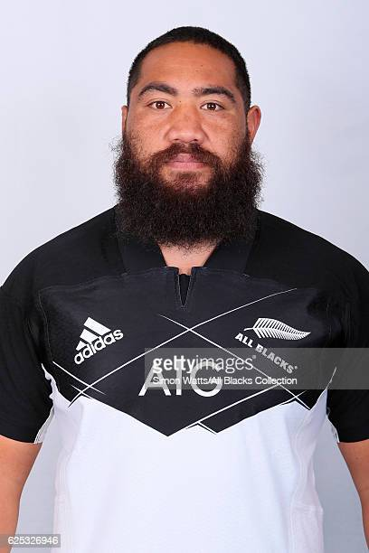 Charlie Faumuina poses during the All Blacks End of Year Tour 2016 Headshots Session at Auckland International Airport Novotel on October 28 2016 in...