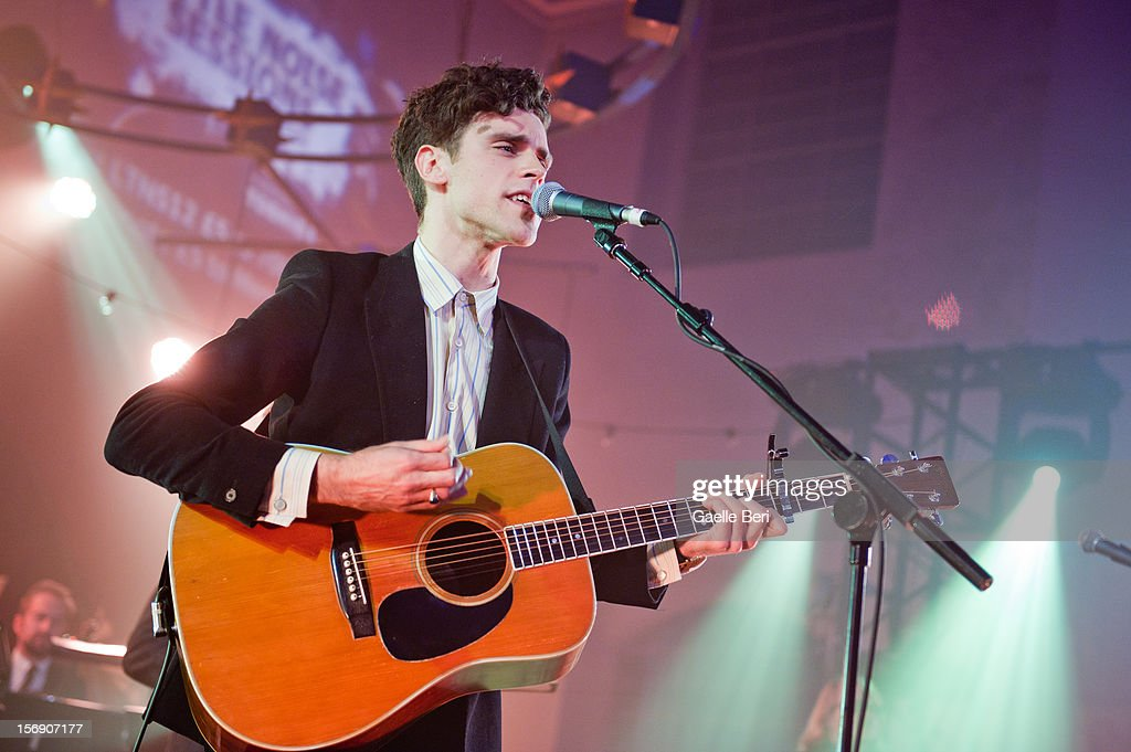 Charlie Fink of Noah and the Whale performs as part of Mencap's Little Noise Sessions at St John-At-Hackney on November 24, 2012 in London, England.
