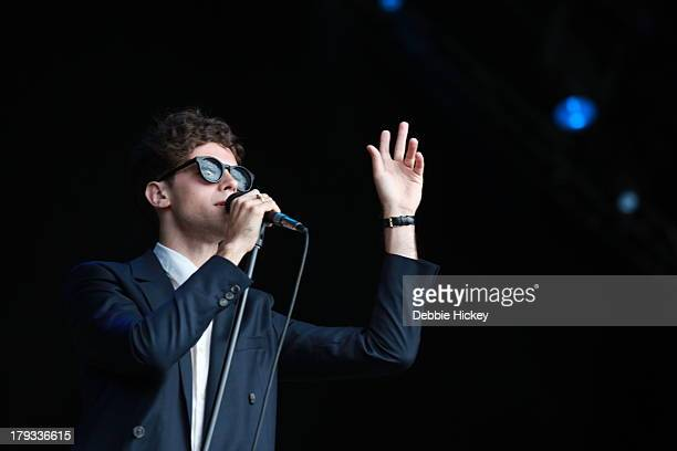 Charlie Fink of Noah and The Whale performs at Day 3 of Electric Picnic at Stradbally Hall Estate on September 1 2013 in Dublin Ireland