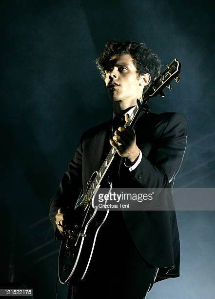 Charlie Fink of Noah And The Whale performs on day one of Lowlands Festival on August 19, 2011 in Biddinghuizen, Netherlands.