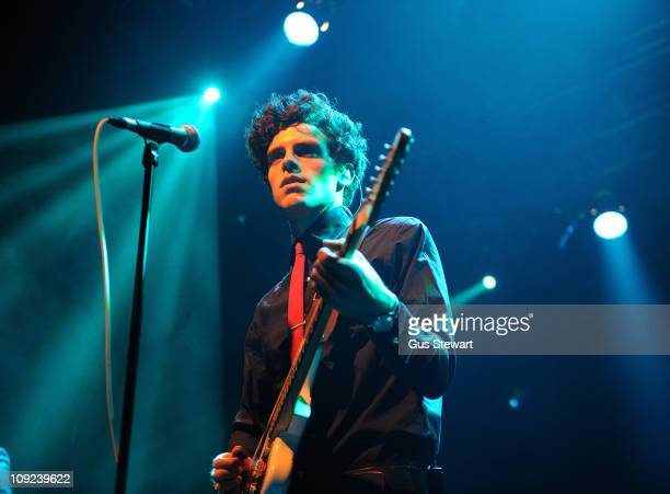 Charlie Fink of Noah And The Whale performs on stage at KOKO on February 17 2011 in London England