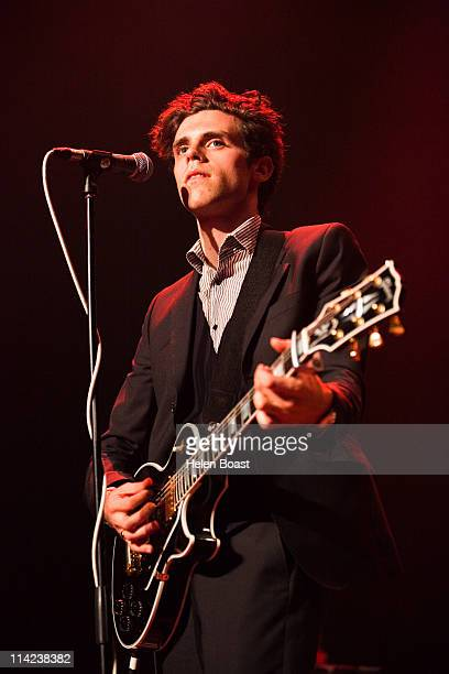 Charlie Fink of Noah And The Whale performs on stage at The Roundhouse on May 16 2011 in London United Kingdom