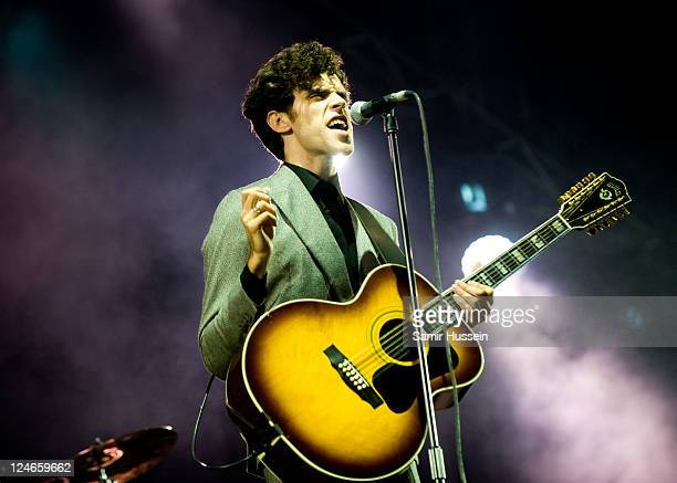 Charlie Fink of Noah and the Whale performs on the main stage on day 4 of Bestival at Robin Hill Country Park on September 11 2011 in Newport United...