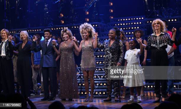 Charlie Franklin Phyllida Lloyd Daniel J Watts Tina Turner Adrienne Warren and Katori Hall with cast during the Tina The Tina Turner Musical Opening...