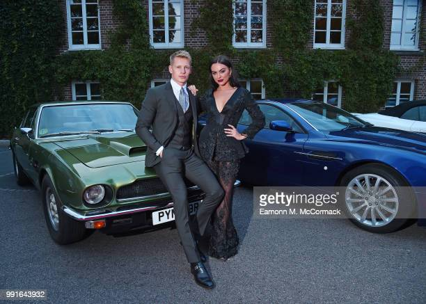 Charlie Frederick and Rosie Anna Williams attend the 2018 Grand Prix Ball held at The Hurlingham Club on July 4 2018 in London England