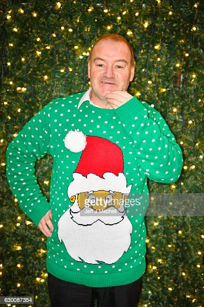 Charlie Fullartonwears a Christmas jumper while shopping in Buchanan Street on December 16 2016 in GlasgowScotland Christmas Jumper Day is now an...