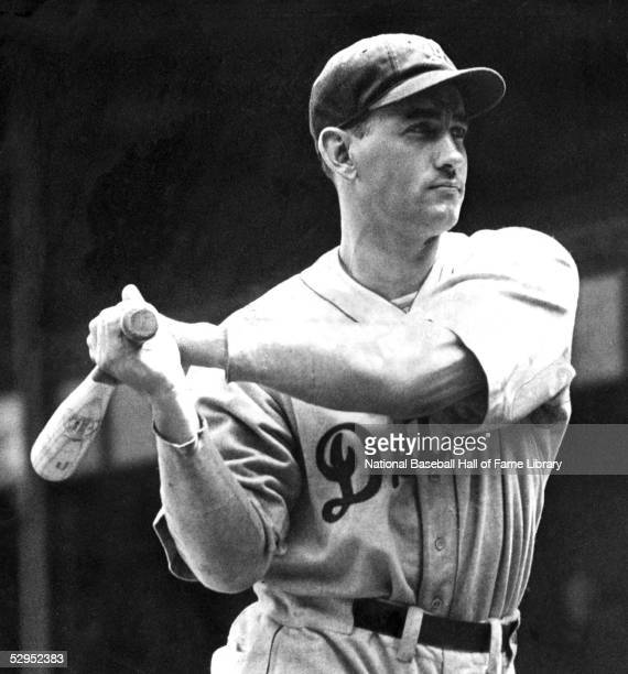 Charlie Gehringer of the Detroit Tigers takes a swing during season game. Charles Leonard Gehringer played second base for the Detroit Tigers from...