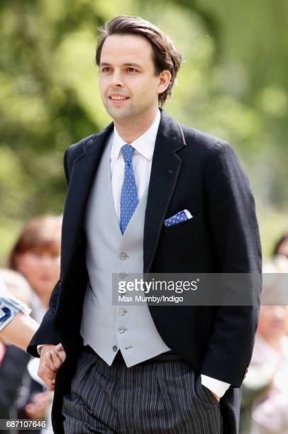 Charlie Gilkes attends the wedding of Pippa Middleton and James Matthews at St Mark's Church on May 20, 2017 in Englefield Green, England.