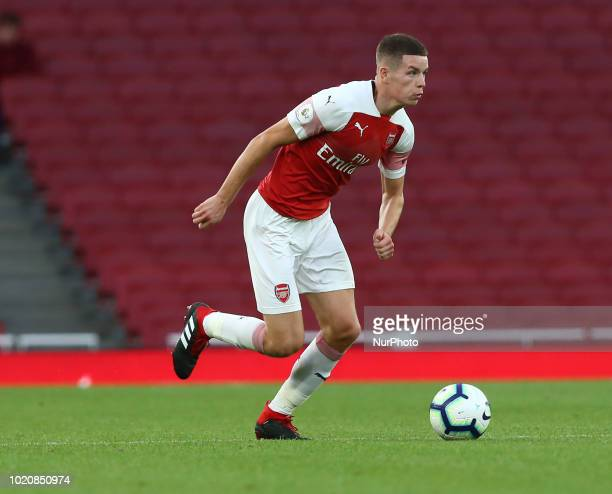 Charlie Gilmour of Arsenal during Premier League 2 match between Arsenal Under 23s and Brighton and Hove Albion Under 23s at Emirates stadium London...