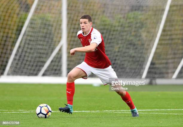 Charlie Gilmour of Arsenal during the match between Tottehma Hotspur and Arsenal on October 23 2017 in Enfield England