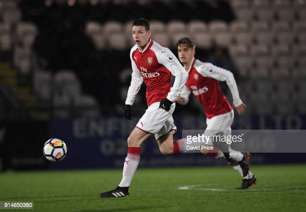 Charlie Gilmour of Arsenal during the Premier League 2 match between Arsenal and Everton at Meadow Park on February 5 2018 in Borehamwood England