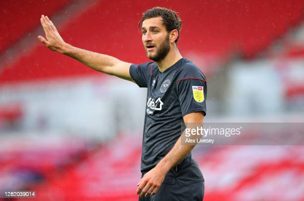 Charlie Goode of Brentford during the Sky Bet Championship match between Stoke City and Brentford at Bet365 Stadium on October 24 2020 in Stoke on...