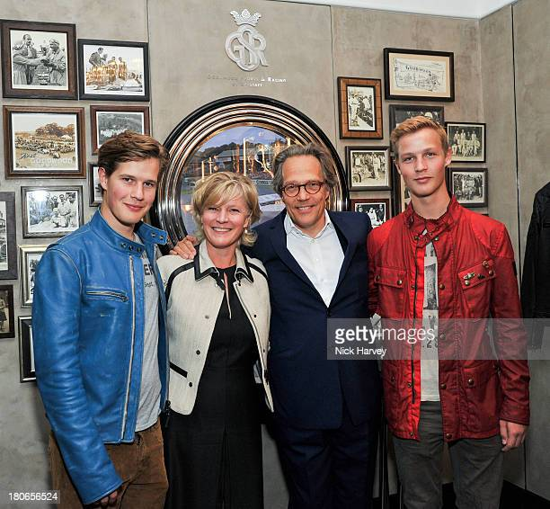 Charlie Gordon Lennox Lady Alexandra GordonLennox Lord Charles GordonLennox and Will Gordon Lennox attend the opening of Belstaff House on September...