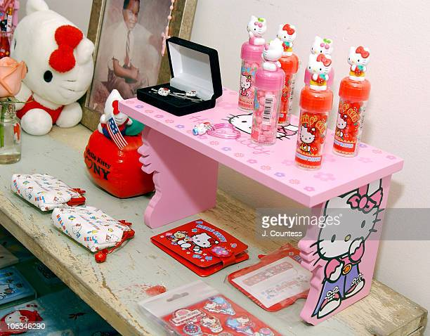 Charlie Green's 'Hello Kitty' collection during MakeUp Artist Charlie Green at Home with Hello Kitty at Private Residence in New York City New York...
