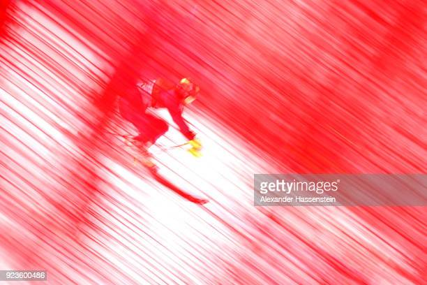 Charlie Guest of Great Britain competes during the Alpine Team Event on day 15 of the PyeongChang 2018 Winter Olympic Games at Yongpyong Alpine...