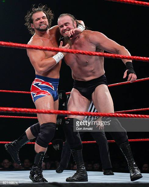 Charlie Haas and Snitzky in action during the WWE RAW Summerslam event at the Acer Arena, Homebush Stadium in Sydney, Australia on August 4, 2006.