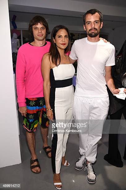 Charlie Haas Laurie Lynn Stark and Russ Haas attend Chrome Hearts Celebrates The Miami Project During Art Basel With Zoe Kravitz at Miami Design...