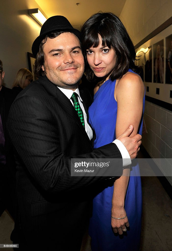 Charlie Haden and Jack Black backstage at the 51st Annual GRAMMY Awards at the Staples Center on February 8, 2009 in Los Angeles, California.