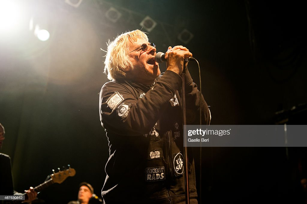 Charlie Harper of punk band U.K. Subs performs at KOKO on March 25, 2015 in London, England.