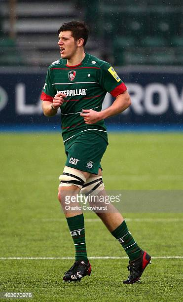 Charlie Harvey of Leicester during the Premiership Rugby/RFU U18 Academy Finals Day match between Leicester and Bath at The Allianz Park on February...