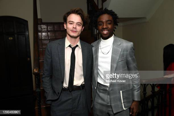 Charlie Heaton and Caleb McLaughlin are seen as Entertainment Weekly Celebrates Screen Actors Guild Award Nominees at Chateau Marmont on January 18...