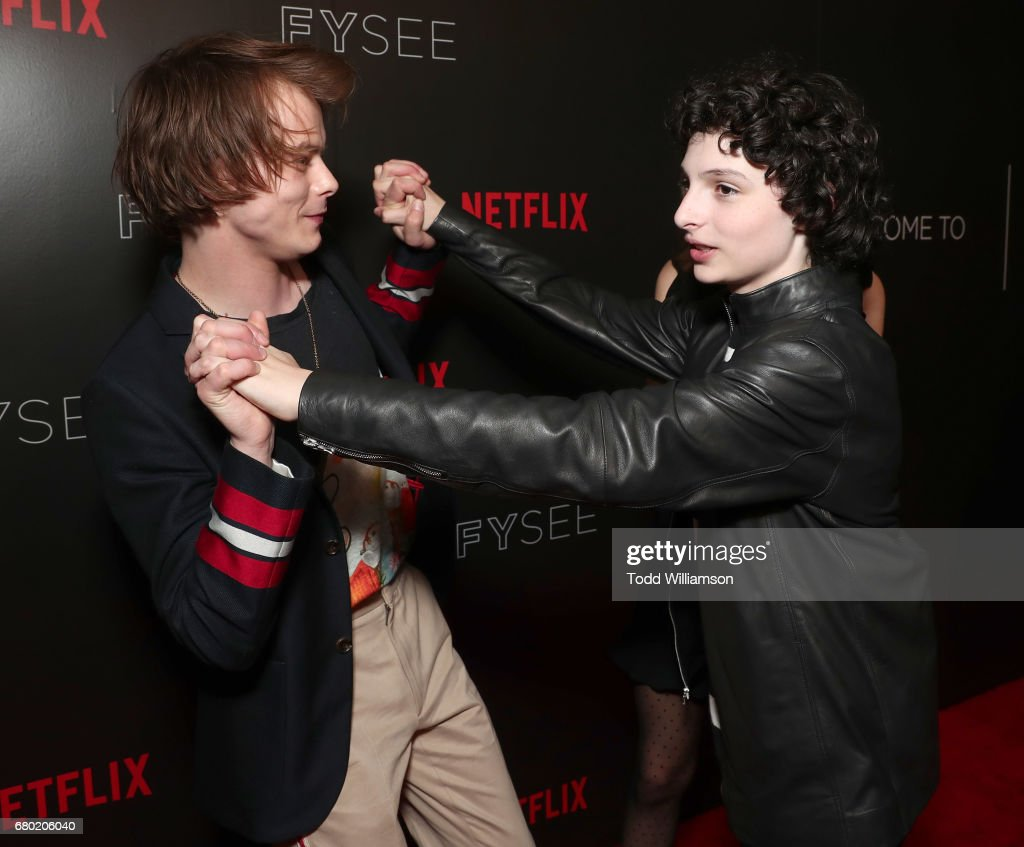 Charlie Heaton and Finn Wolfhard attend the Netflix FYSEE Kick-Off Event at Netflix FYSee Space on May 7, 2017 in Beverly Hills, California.