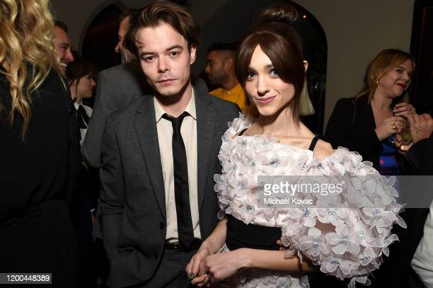 Charlie Heaton and Natalia Dyer are seen as Entertainment Weekly Celebrates Screen Actors Guild Award Nominees at Chateau Marmont on January 18 2020...