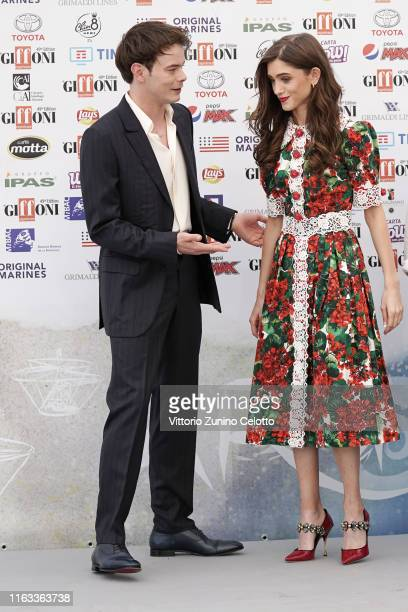 Charlie Heaton and Natalia Dyer attend Giffoni Film Festival 2019 on July 21 2019 in Giffoni Valle Piana Italy