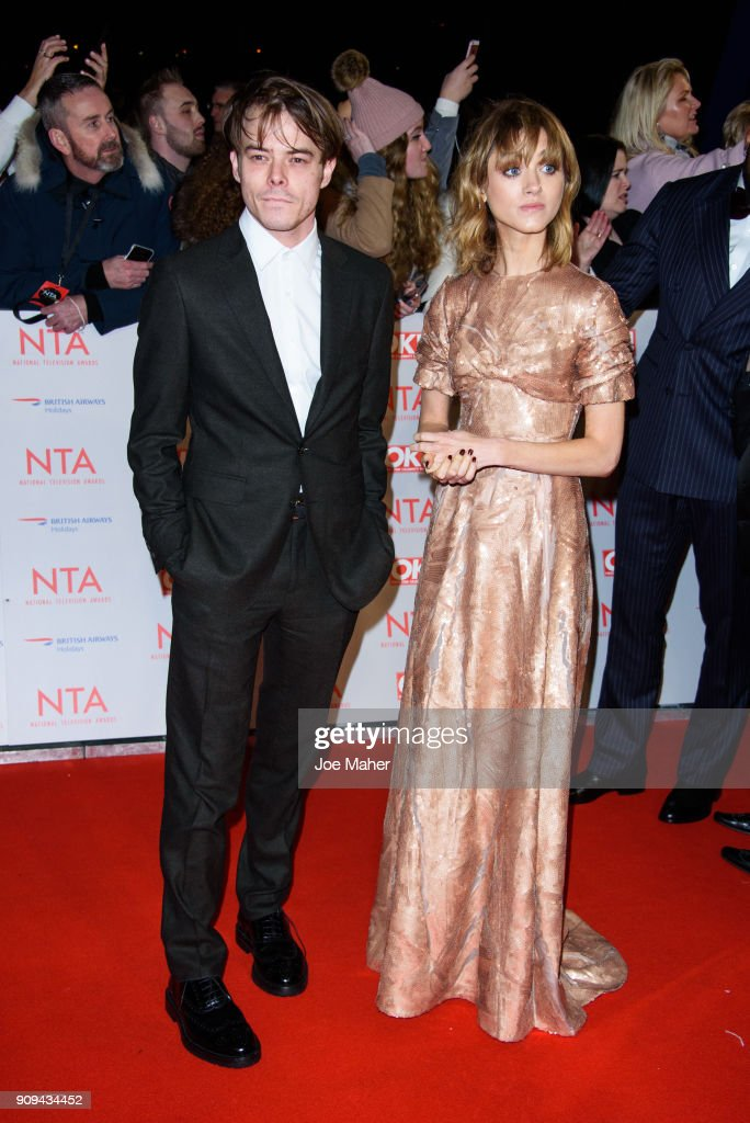 Charlie Heaton and Natalia Dyer attend the National Television Awards 2018 at The O2 Arena on January 23, 2018 in London, England.