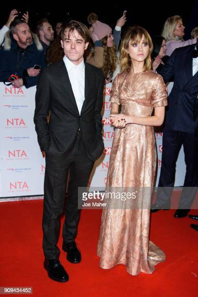 Charlie Heaton and Natalia Dyer attend the National Television Awards 2018 at The O2 Arena on January 23 2018 in London England