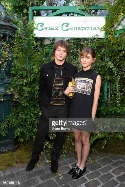 Charlie Heaton and Natalia Dyer attend the Welcome Dinner of the Christian Dior Couture S/S 2019 Cruise Collection on May 24 2018 in Paris France