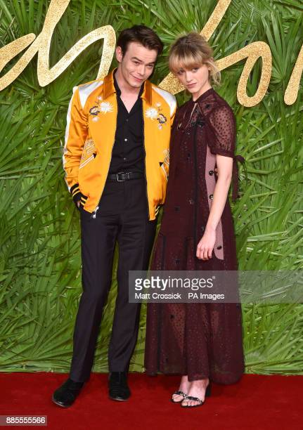 Charlie Heaton and Natalia Dyer attending the Fashion Awards 2017 in partnership with Swarovski held at the Royal Albert Hall London Picture Date...