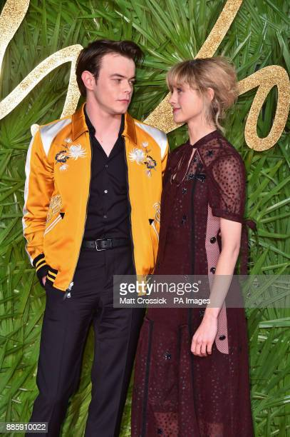 Charlie Heaton and Natalia Dyer attending the Fashion Awards 2017 in partnership with Swarovski held at the Royal Albert Hall London PRESS...