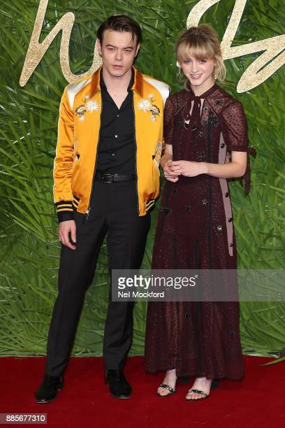 Charlie Heaton and Natalia Dyer attends The Fashion Awards 2017 in partnership with Swarovski at Royal Albert Hall on December 4 2017 in London...