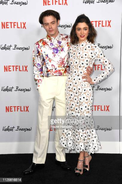 Charlie Heaton and Natalie Dyer attend the Los Angeles Premiere Screening Of Velvet Buzzsaw at American Cinematheque's Egyptian Theatre on January 28...