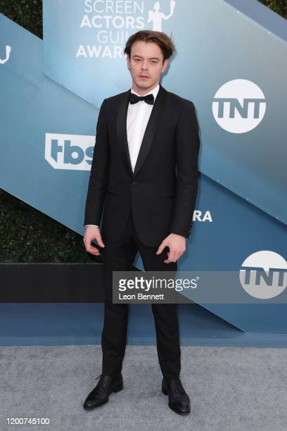 Charlie Heaton attends 26th Annual Screen Actors Guild Awards at The Shrine Auditorium on January 19 2020 in Los Angeles California