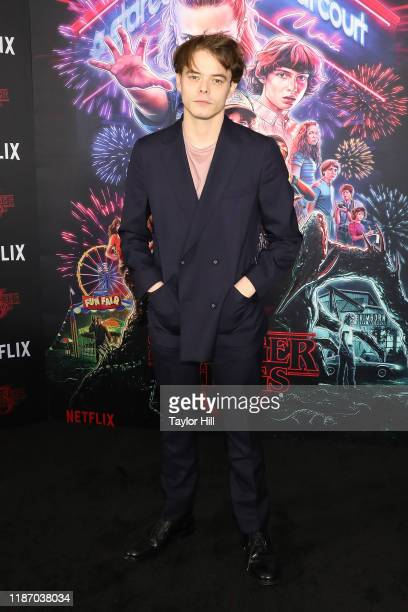 """Charlie Heaton attends a screening of """"Stranger Things"""" at DGA Theater on November 11, 2019 in New York City."""